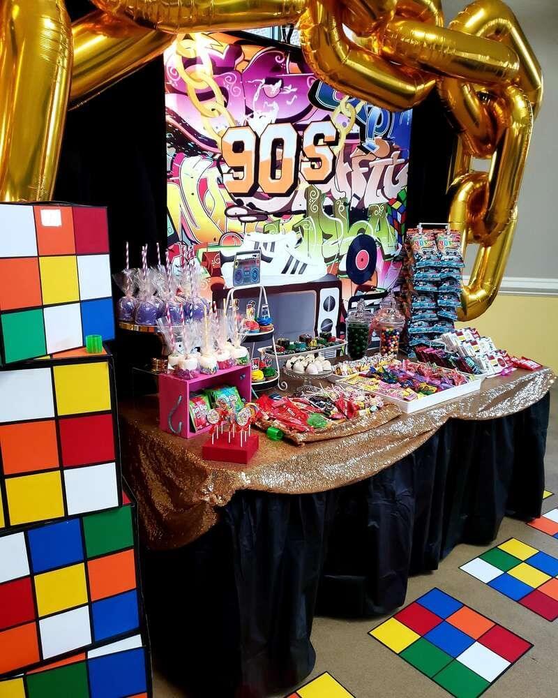 Jaren 90 feest decoratie 1