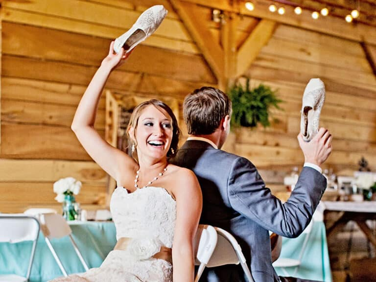 Haar schoen zijn schoen stukje bruiloft