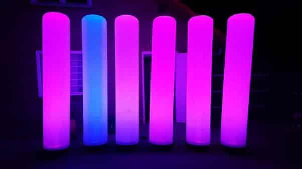 Led aircones lichtzuilen