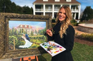 Live wedding painting for your ceremony and reception heather wolfe art 1