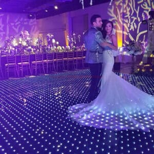 Newest acrylic waterproof rgb led dance floor for holiday party wedding club stage show 1