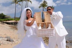 Duiven vrijlaten bruiloft