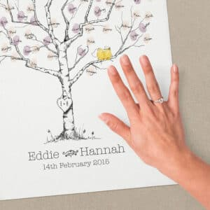 Original oak wedding fingerprint tree 1