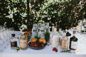 Wedding gin bar 1